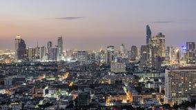 曼谷,泰国- 2016年11月14日:Sathorn路的,曼谷,泰国摩天大楼 库存图片