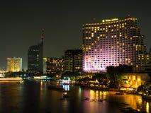 曼谷,泰国- 2015年10月18日:Shangri La旅馆曼谷 的treadled 图库摄影