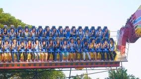 曼谷,泰国2015年11月24日 在梦想世界的震动的机器是一个泰国` s著名游乐园 免版税图库摄影