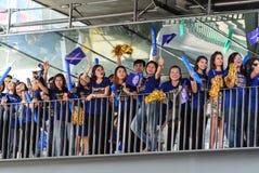 曼谷,泰国- 2016年5月19日-莱斯特市支持者等待 免版税库存图片