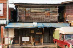 曼谷,泰国- 9月15 :地方木大厦 免版税库存图片