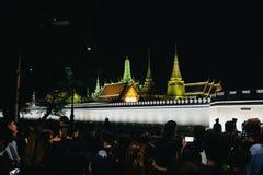 曼谷,泰国- 10月14,2016 :泰国人出席Gra 图库摄影