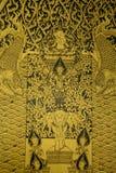 曼谷,泰国4月10,20109 :泰国文化,泰国绘画 免版税库存图片