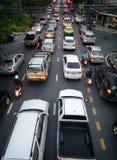 曼谷,泰国- 5月31 :通勤者陷在交通堵塞 免版税库存图片