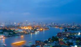 曼谷,泰国- 10月2,2017 :风景观点的盛大勃拉 免版税库存图片