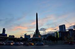曼谷,泰国- 12月27 :2014年 夜视图胜利纪念碑 免版税库存照片