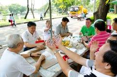 曼谷领抚恤金者 库存图片