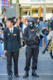 在平民之中的特种部队和将军 库存照片