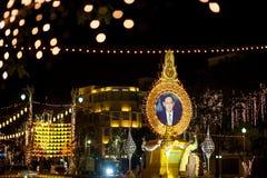 曼谷,泰国- 12月27,2015 :fastival五颜六色的灯 免版税库存图片