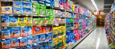 曼谷,泰国- 10月19 :Foodland超级市场在维多利亚 库存图片