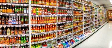曼谷,泰国- 10月18 :Foodland超级市场在维多利亚 免版税库存照片