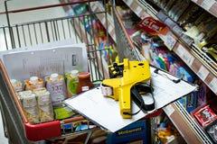 曼谷,泰国- 11月04 :Foodland超级市场在Victori 免版税库存图片