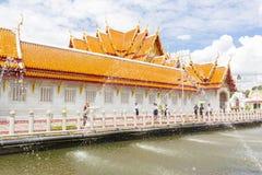 曼谷,泰国- 8月26,2017 :Wat Benchamabopit Dusitvana 库存照片