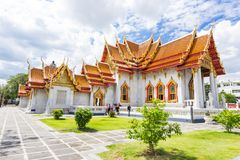 曼谷,泰国- 8月26,2017 :Wat Benchamabopit Dusitvana 库存图片