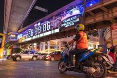 曼谷,泰国DEC 18日2015年- Ratchaprasong交叉点 库存图片