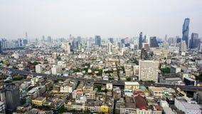曼谷从屋顶的市viee 免版税库存图片