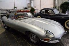 曼谷- 6月22日捷豹汽车E型的系列1 5 1960年在Th的显示 免版税库存图片