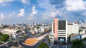 曼谷-5月21日:华Lamphong驻地地区视图,火车railw 免版税库存照片