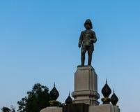 曼谷- 2016年3月12日:国王rama VI纪念碑位于f 库存图片