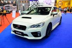 曼谷-3月26日:在显示的新的Subaru WRX在第36曼谷我 免版税库存图片