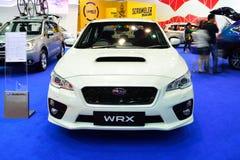 曼谷-3月26日:在显示的新的Subaru WRX在第36曼谷我 库存照片