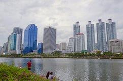 曼谷-7月19日:benjakitti公园, benjakitti公园看法是 库存图片