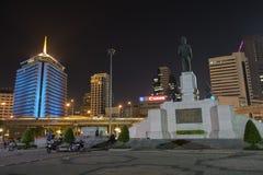 曼谷-7月11日:lumpini公园看法abngkok的泰国,卢姆 库存照片