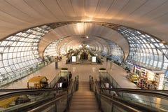 曼谷6月23日2017年素万那普机场,泰国 Passenge 库存照片