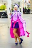 一个未认出的日本芳香树脂cosplay姿势。 免版税库存图片