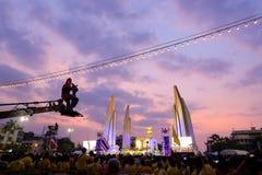 曼谷- 12月05 :1,000,000泰国的庆祝Fathe 库存照片
