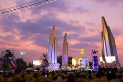 曼谷- 12月05 :1,000,000泰国的庆祝Fathe 图库摄影