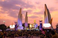 曼谷- 12月05 :1,000,000泰国的庆祝Fathe 免版税图库摄影
