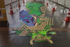 生存艺术节2013年@ Ratchaprasong 免版税库存图片