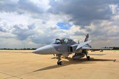 曼谷- 7月2 :JAS 39 Gripen展示节日 库存照片