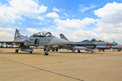曼谷- 7月2 :JAS 39 Gripen 免版税库存图片