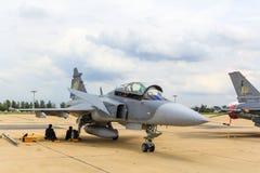 曼谷- 6月30 :JAS 39 Gripen 图库摄影