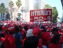 曼谷/泰国- 04 05 2010年:红色衬衣抗议反对政府在Ratchaprasong 库存图片