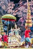 曼谷 泰国- 2015年12月13日,在舞蹈戏曲的Khon 免版税库存图片
