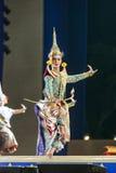 曼谷 泰国- 2015年12月13日, Khon是Tha舞蹈戏曲  免版税图库摄影