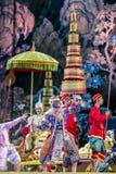 曼谷 泰国- 2015年12月13日, Khon是Tha舞蹈戏曲  免版税库存照片