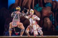 曼谷 泰国- 2015年12月13日, Khon是Tha舞蹈戏曲  免版税库存图片