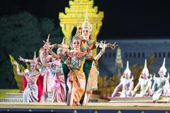 曼谷 泰国- 2015年12月13日, Khon是Tha舞蹈戏曲  图库摄影