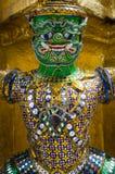 曼谷(泰国), 2015年10月-曼谷玉佛寺雕象 免版税库存照片