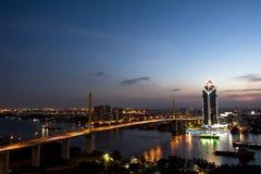 曼谷-Decmeber 30日2017年:Kasikorn银行总部大厦 免版税库存照片