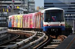 曼谷bts skytrain泰国 库存图片