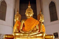 曼谷buddhas镀金了泰国 免版税库存图片