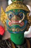 曼谷DEC 04 :泰国木偶RAVANA是泰国litera字符  免版税库存图片