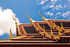 曼谷kaew phra屋顶wat 库存图片