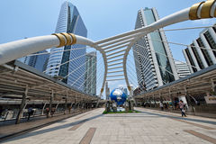 曼谷Skywalk 库存图片