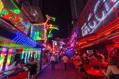 曼谷Soi牛仔红灯区 库存图片